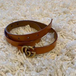Unisex cognac GG belt